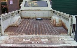 rusted truck bed
